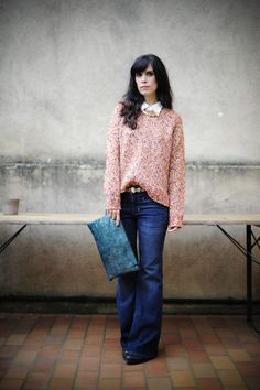 Drop dead gorgeous! Those jeans are just to die for and the colored sweather is perfect.