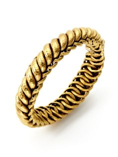 Gold Twisted Bangle Bracelet by Amrapali at Gilt Mens Gold Bracelets, Bangle Bracelets, Necklaces, Funky Jewelry, Gold Jewelry, Mens Jewellery, Ankle Jewelry, Temple Jewellery, Gold Bangles Design