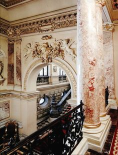 Interior of Cotroceni Palace Bucharest, Romania Bulgaria, Visit Romania, Romania Travel, Marble Columns, Beautiful Places To Visit, Beautiful Buildings, Eastern Europe, Places Around The World, Art And Architecture