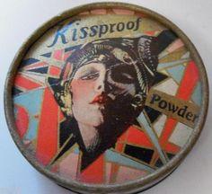 Art Deco Celluloid Flapper Kissproof Powder Box