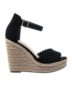 8c98c89fd4a9 Herald Espadrille Jute Rope Wrap Platform Wedge Sandal w Rounded Trimming