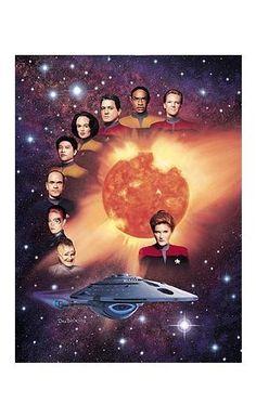Star Trek Voyager Cast Lithograph @ niftywarehouse.com #NiftyWarehouse #StarTrek #Trekkie #Geek #Nerd #Products