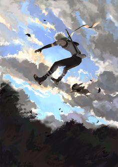 埋め込み <-- idk what that says Kakashi and Pakkunnnnnnn Naruto Kakashi, Naruto Shippuden Sasuke, Naruto Sasuke Sakura, Naruto Cute, Boruto, Gaara, Madara Uchiha, Blue Exorcist, Character Illustration