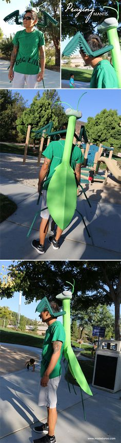 DIY Praying mantis costume