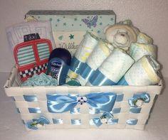 ♥ Windeltorte Geschenkkorb Blau Babygeschenk Taufgeschenk Mitbringsel Junge ♥ | eBay Shower, Children, Pacifiers, Baby Favors, Basket, Birthday, Blue, Rain Shower Heads, Toddlers