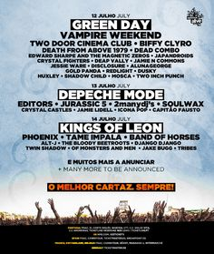 Optimus Alive in Lisbon, Portugal - 12-14th July 2013 - Green Day, Depeche Mode & Kings of Leon...