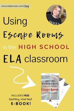 Can your students escape the classroom? Explore how to use escape rooms in the high school ELA classroom. Includes FREE getting started ebook! Classroom Games High School, Escape The Classroom, School Games, Future Classroom, Classroom Ideas, Teaching Tools, Teacher Resources, Writing Resources, Teaching Strategies