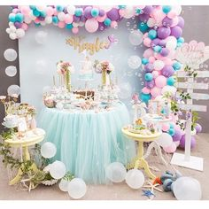 Fishing for a party as cute as can be? Kara's Party Ideas presents an Under the Sea Mermaid Birthday Party that does the job! Mermaid Theme Birthday, Unicorn Birthday Parties, First Birthday Parties, Birthday Party Decorations, Girl Birthday, First Birthdays, Pastel Party Decorations, Birthday Ideas, Party Kulissen