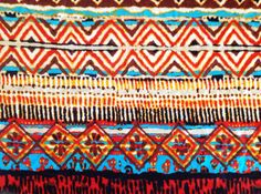 PRESALE PRESALE 1 Yard Tribal Aztec Fall colors by SanTexFabrics, $9.85