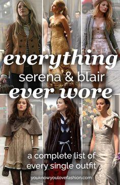 "Ever Wore on ""Gossip Girl"" Everything Serena Ever Wore on ""Gossip Girl""Serena Ever Wore on ""Gossip Girl"" Everything Serena Ever Wore on ""Gossip Girl"" How to dress like Blair Waldorf Gossip Girl Blair, Gossip Girls, Mode Gossip Girl, Gossip Girl Serena, Estilo Gossip Girl, Gossip Girl Outfits, Gossip Girl Fashion, Fashion Tv, Fashion Outfits"