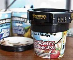 Finally, a solution to those pesky Ben & Jerry's-stealing roommates of yours. Ben & Jerry's ice cream lock.