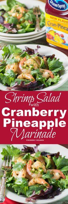 Shrimp Salad with Cranberry Pineapple Marinade via @tnoland