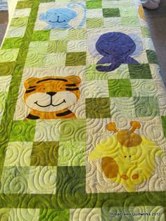 Cute Baby quilt!. Like the quilting too.