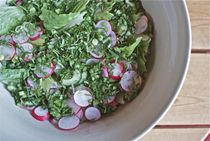 Radish Mint Cucumber Tossed Salad