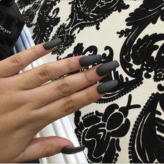 Like what you see⁉ Follow me on Pinterest ✨: @joyceejoseph ~  Grey Matte / Black Matte Nails