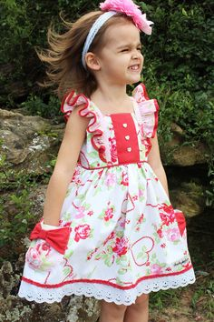 Welcome to Cheeky Plum where we specialize in childrens and baby boutique clothing! Baby Girl Frocks, Frocks For Girls, Kids Frocks, Dresses Kids Girl, Little Girl Outfits, Little Girl Fashion, Kids Fashion, Winter Fashion, Toddler Dress