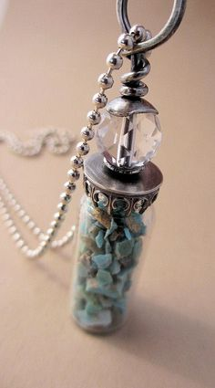 Sleeping Beauty Turquoise Vial Pendant by AdobeSol, via Flickr