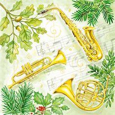 ペーパーナプキン(33)AMB:(5枚)CHRISTMAS MUSIC-AM252