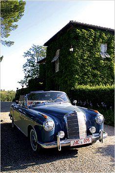 Mercedes Benz convertible in Napa