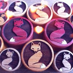 Omerica Organic Fox plugs.  Use rep code LimyGirl for 20% off your first order.  Available in a few different wood options.
