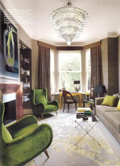 Home of stylist Jenny-Lyn Hart Boden love the furniture layout Green Rooms, Furniture Layout, Interior Design Inspiration, Interior Ideas, Beautiful Interiors, Decoration, Home And Living, Interior Architecture, Living Spaces
