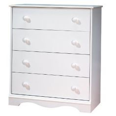 South Shore Furniture, 4 Drawer Chest, Pure White --- http://bizz.mx/j4g