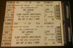 #DefLeppard #Heart #SleepCountryAmphitheater September 14, 2011