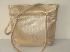 golden handbag gold tote shoulder bag with by LIGONaccessories, $64.00