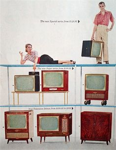 RCA Victor televisions advertisement, 1955