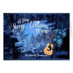 A Very Merry Christmas from Nashville Card - Xmascards ChristmasEve Christmas Eve Christmas merry xmas family holy kids gifts holidays Santa cards