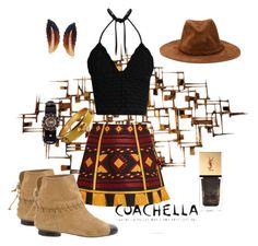 """Coachella 2017"" by cbmalloy ❤ liked on Polyvore featuring WALL, Chanel, Vita Kin, Simon G., Yves Saint Laurent, Alexander McQueen, RED Valentino and coachella2017"