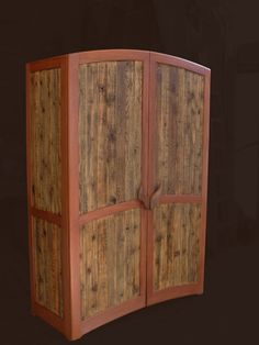 Armoire - Reclaimed Cedar and Mahogany on Etsy, $4,300.00 by Dancing Grains... Another gorgeous masterpiece! There's such a hidden story to creations of reclaimed wood! I just love it!
