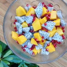 #8 Dragon fruit, mango, pomegranate.