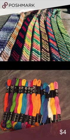 Homemade Friendship Bracelets Friendship bracelets for sale!! pick your colors! If large quantities, the price may change! Jewelry Bracelets
