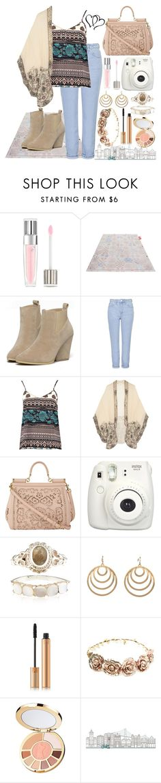"""Boho"" by rolovesrunning ❤ liked on Polyvore featuring Lancôme, Fatboy, Topshop, Boohoo, Anna Sui, Dolce&Gabbana, Accessorize, Pink Mascara, Yves Saint Laurent and Forever 21"