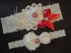 Vintage Inspired Ivory and Hot Pink Lace Wedding by stephanieb77, $30.00