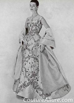 Couture Allure Vintage Fashion: Vintage Evening Gowns - 1955; Balmain