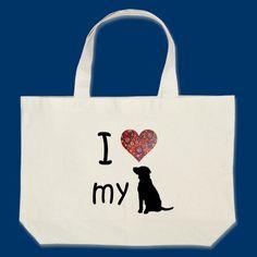 I heart my Dog Tote Bags