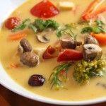 Simple Vegetarian Tom Kha Soup