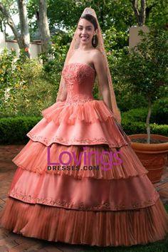 Elegante vestido de Quinceanera del vestido de bola piso-longitud de la falda en capas COP 853856.21 LDP61T3A3T - lovingsdresses.com