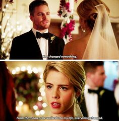 """#Arrow 4x16 """"Broken Hearts"""" - Oliver and Felicity"""