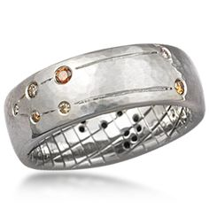 Constellation Wedding Band - Personalize this wedding band with your astrological sign's constellation. The stars will be represented by the gemstone type/s of your choice.