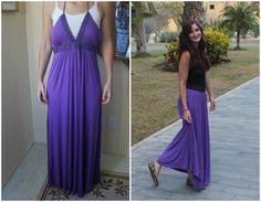 DIY Clothes refashion: DIY Maxi Dress Refashion: DIY Clothes: DIY Fashion: DIY Refashion: DIY Dress
