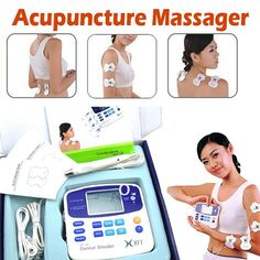 LCD Electric Muscle Stimulator Therapeutic Massage Accupuncture Pen Body Massager