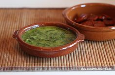 Mojo verde! Canarian sauce that is excellent with baked chorizo, fish, or wrinkled potatoes.