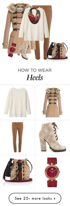 """""""outfit 2912"""" by natalyag on Polyvore featuring Dorothy Perkins, Burberry, Michael Antonio, Toast, Tamara Mellon, Black Rivet and Versace"""