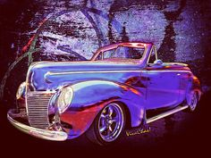 This Merc RagTop looks fab on the wall! - Make the grouping of ride-pixes really stand out! - Love It!