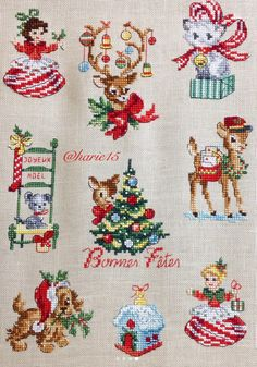 Assorted Xmas designs, stitched beautifully.