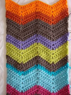 Chevron Crochet Pattern   My progress so far... you can add as many colors and rows as you would ...