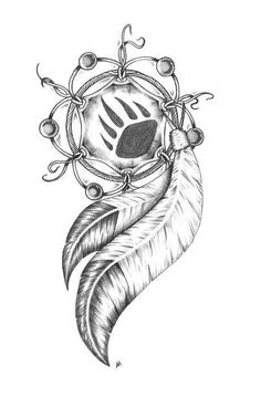 Bear Claw dreamcatcher. This would be cool for my sleeve piece too..Maybe less clashing